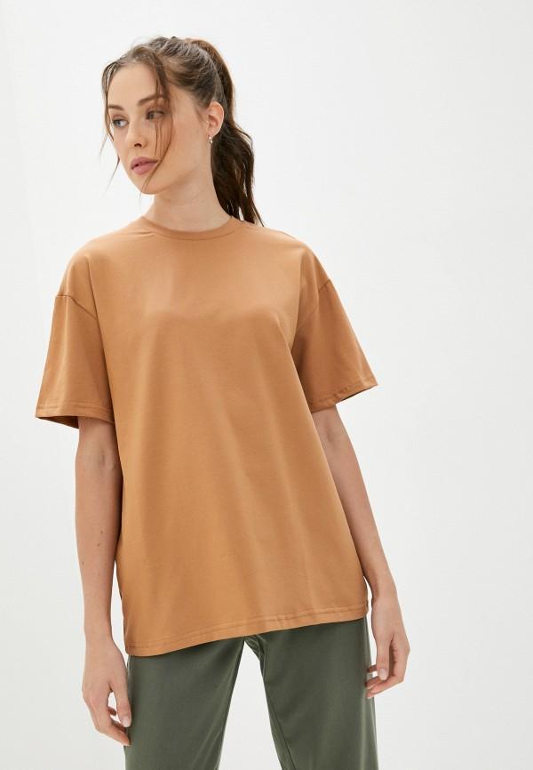 женская футболка minaku, коричневая