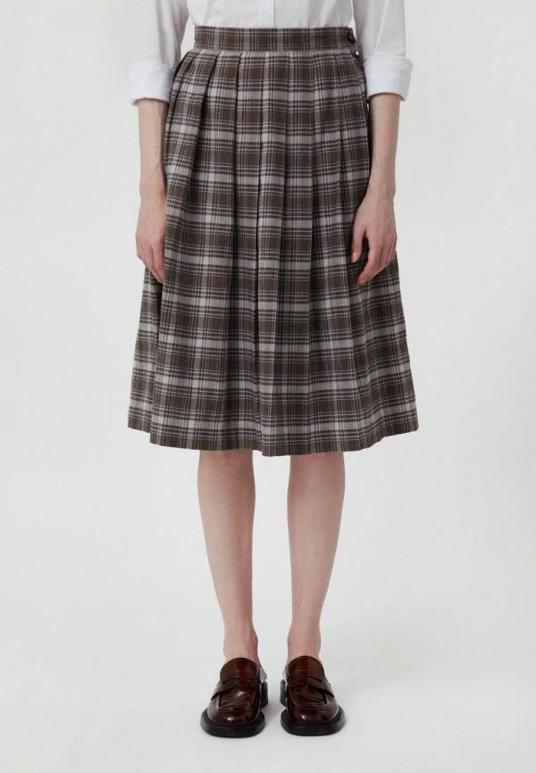 женская юбка-трапеции finn flare, коричневая