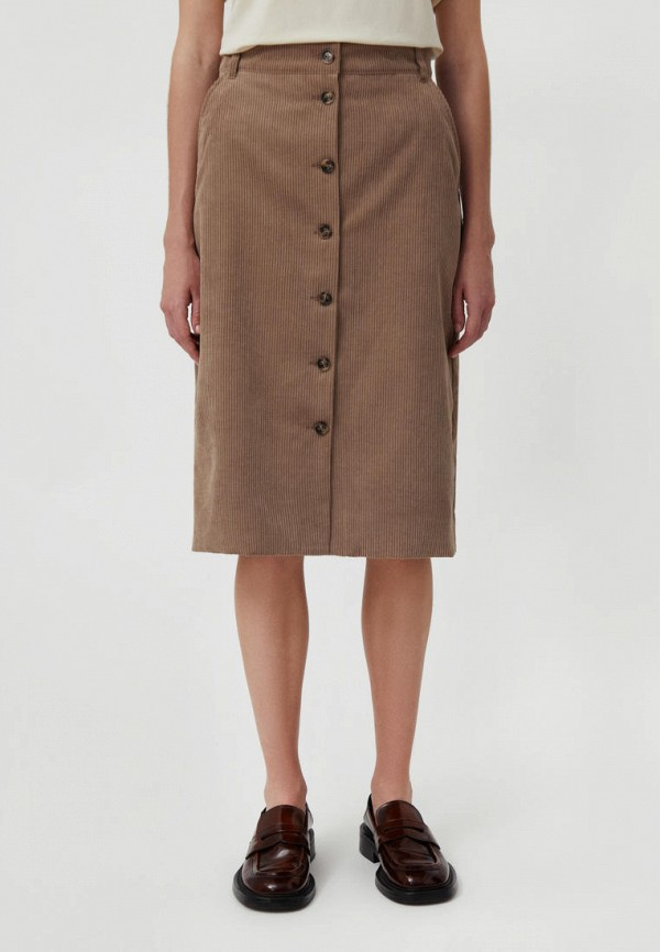женская прямые юбка finn flare, бежевая