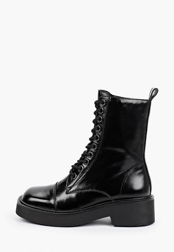 женские высокие ботинки thomas munz, черные