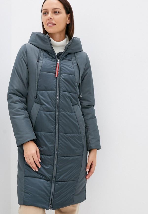 женская утепленные куртка avi, бирюзовая