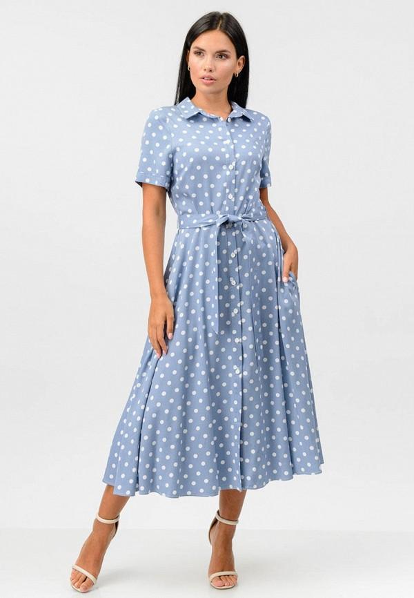 женское платье raslov, голубое
