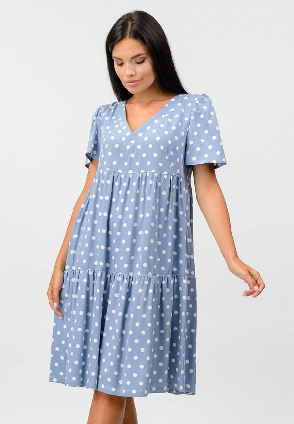 женское повседневные платье raslov, голубое