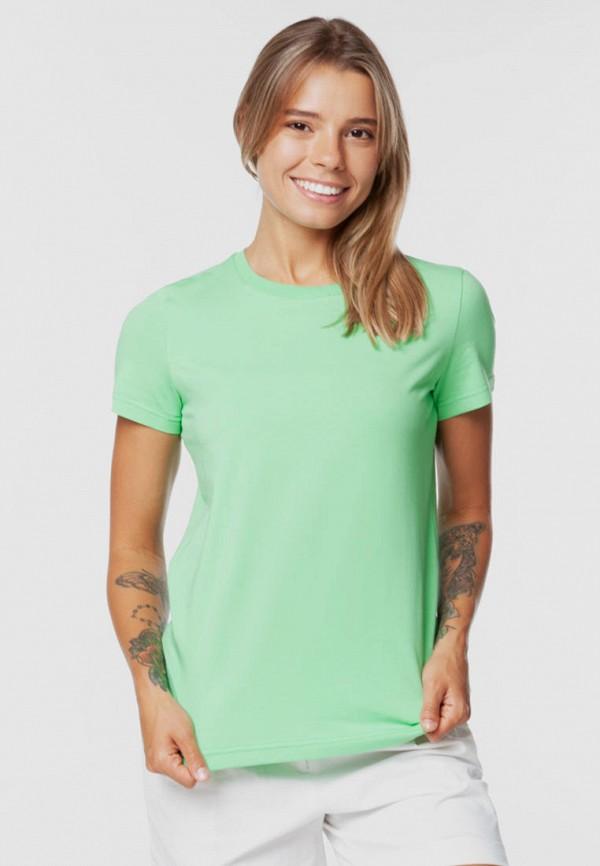женская футболка arber, зеленая