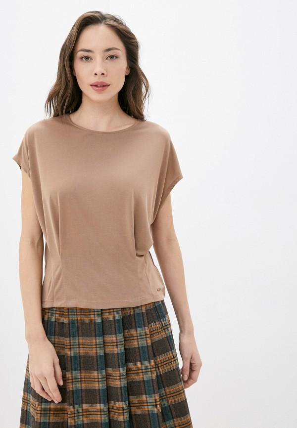 женская футболка taifun, коричневая