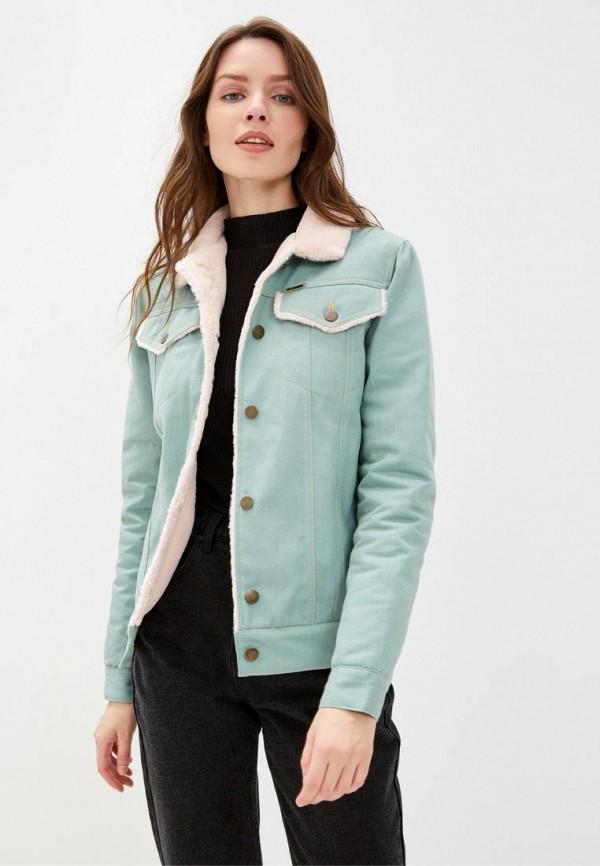 женская джинсовые куртка dasti, бирюзовая
