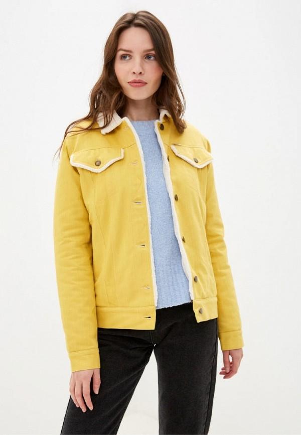 женская джинсовые куртка dasti, желтая