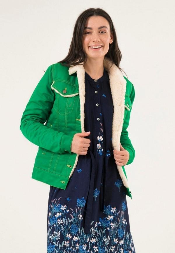 женская джинсовые куртка dasti, зеленая