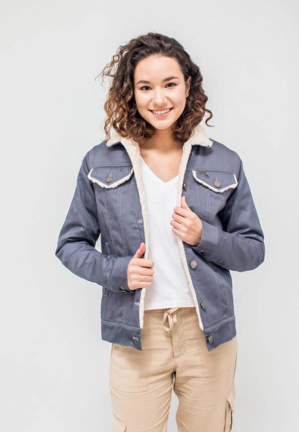 женская джинсовые куртка dasti, серая