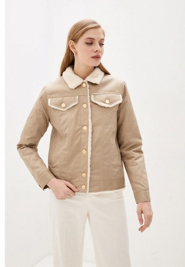 женская джинсовые куртка dasti, бежевая