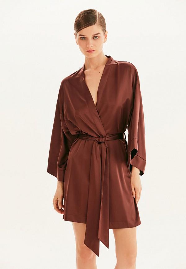 женский халат love republic, коричневый