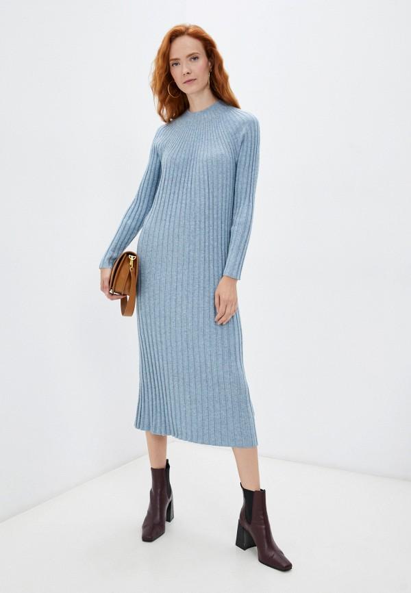 женское платье-свитеры baon, голубое