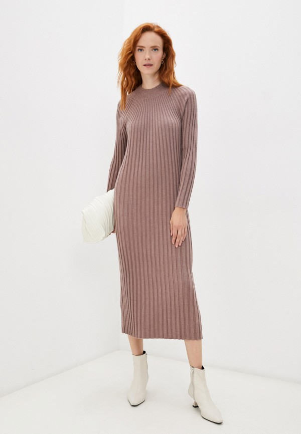женское платье-свитеры baon, коричневое