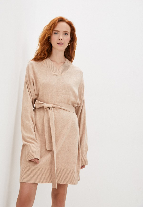 женское платье-свитеры baon, бежевое