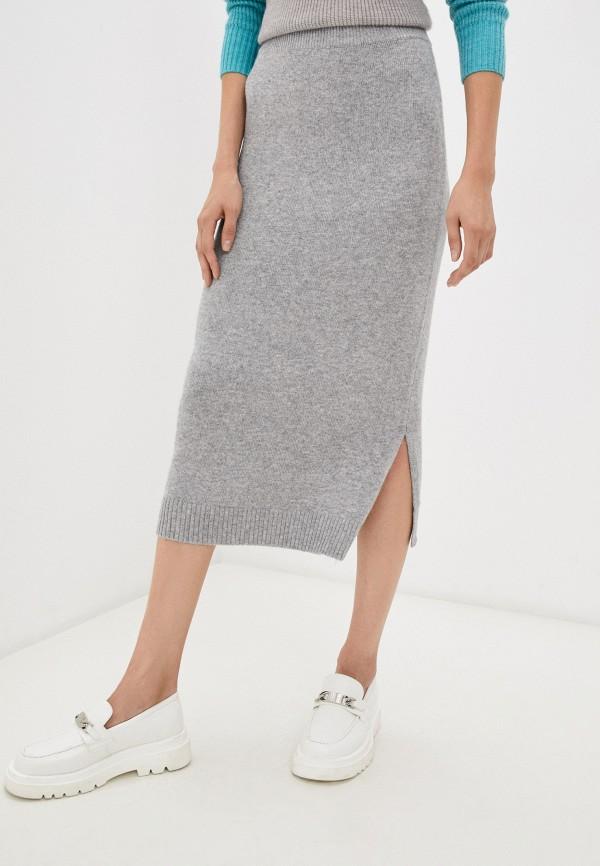 женская узкие юбка baon, серая