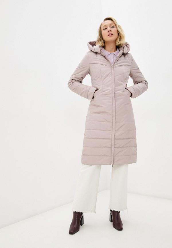 женская утепленные куртка dizzyway, розовая