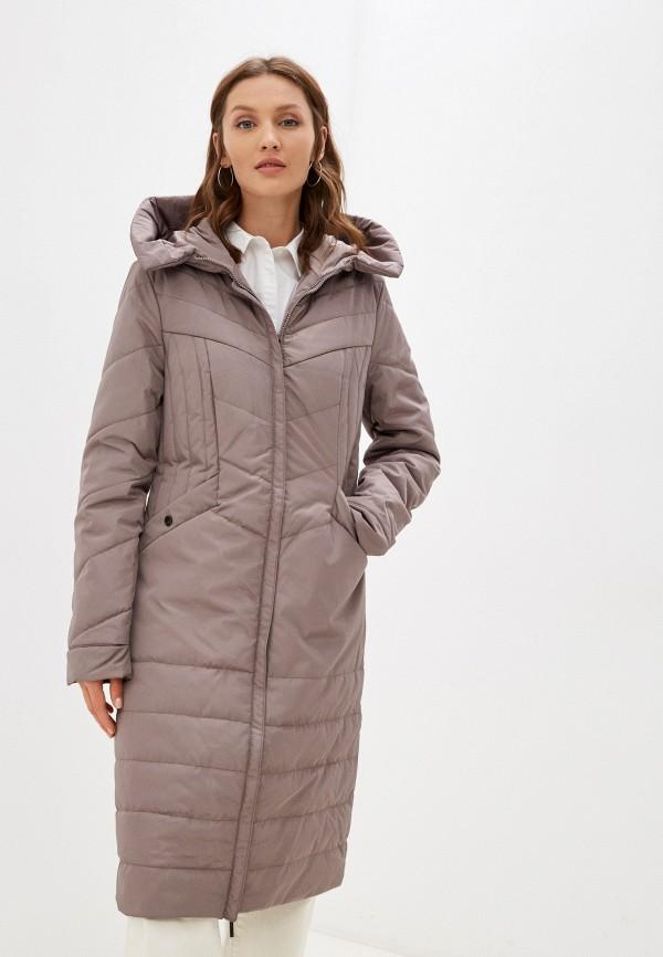 женская утепленные куртка dizzyway, коричневая