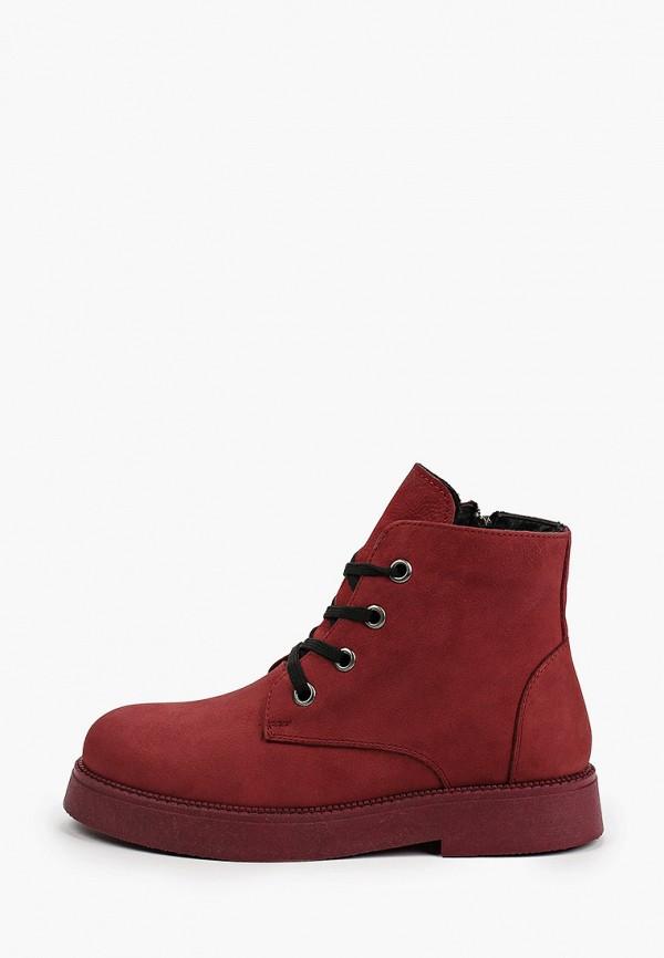 Ботинки Shoiberg бордового цвета