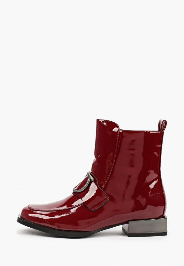 женские высокие ботинки dino ricci select, бордовые