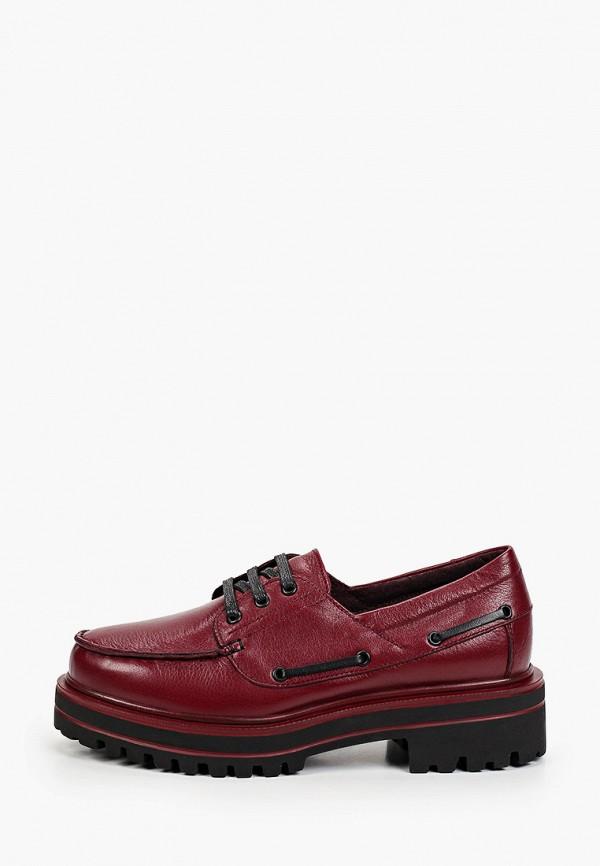 женские низкие ботинки shoiberg, бордовые