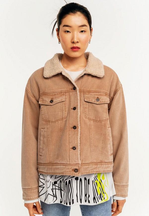 Куртка джинсовая Befree бежевого цвета