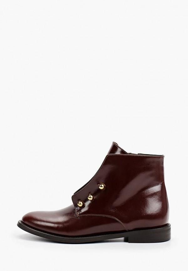 женские высокие ботинки jonak, бордовые