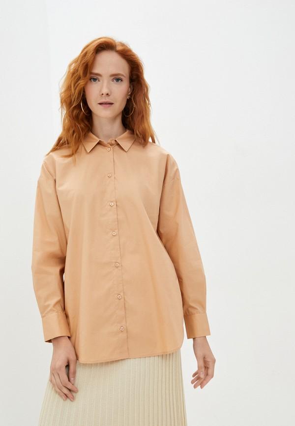 женская рубашка с длинным рукавом baon, бежевая