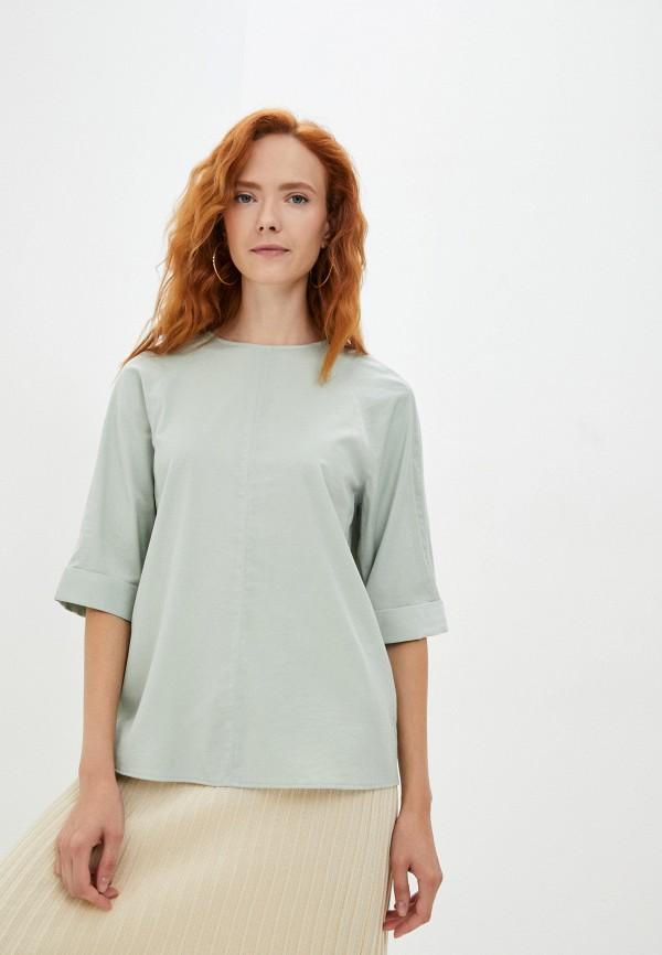женская блузка с коротким рукавом baon, бирюзовая