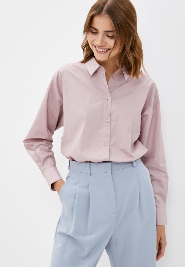 женская рубашка с длинным рукавом baon, розовая