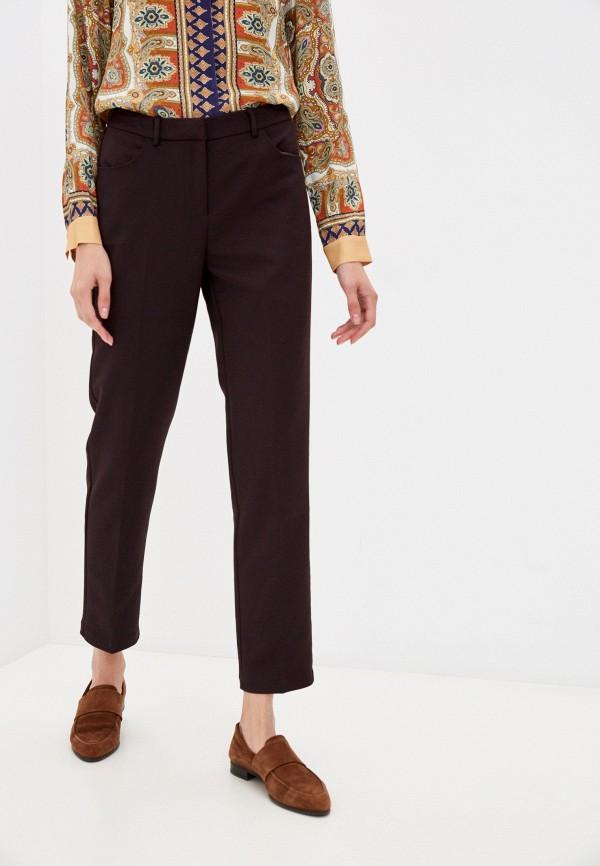женские классические брюки baon, коричневые