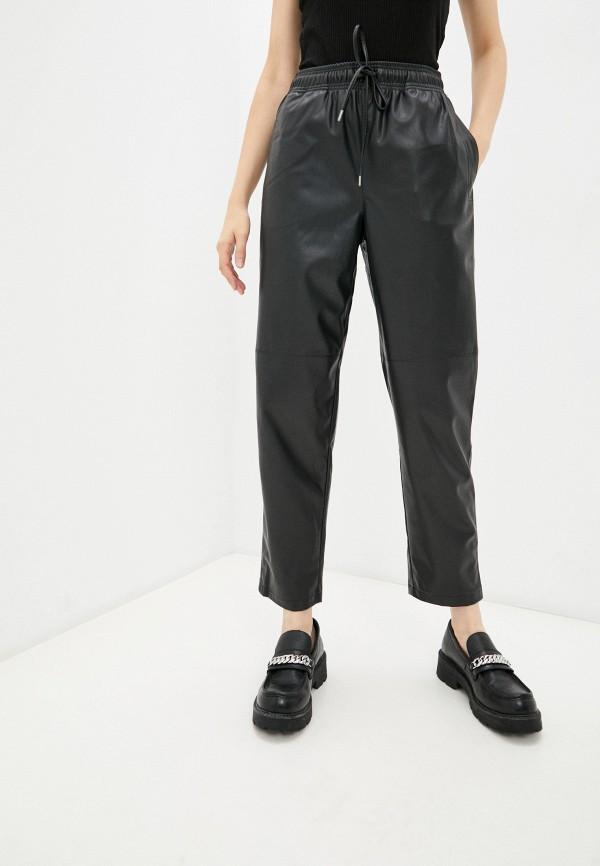 женские кожаные брюки baon, черные