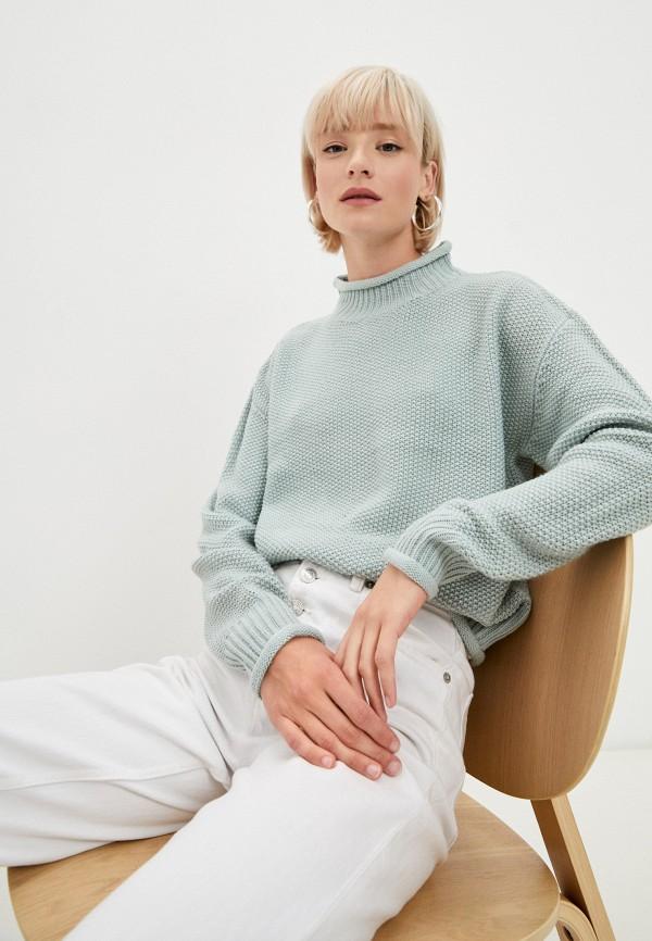 женский свитер baon, бирюзовый