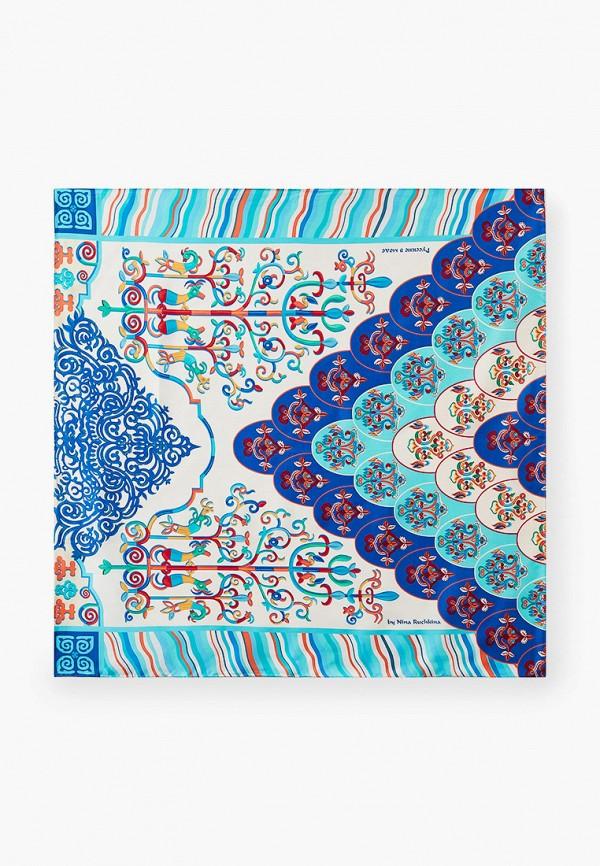 женский платок русские в моде, голубой
