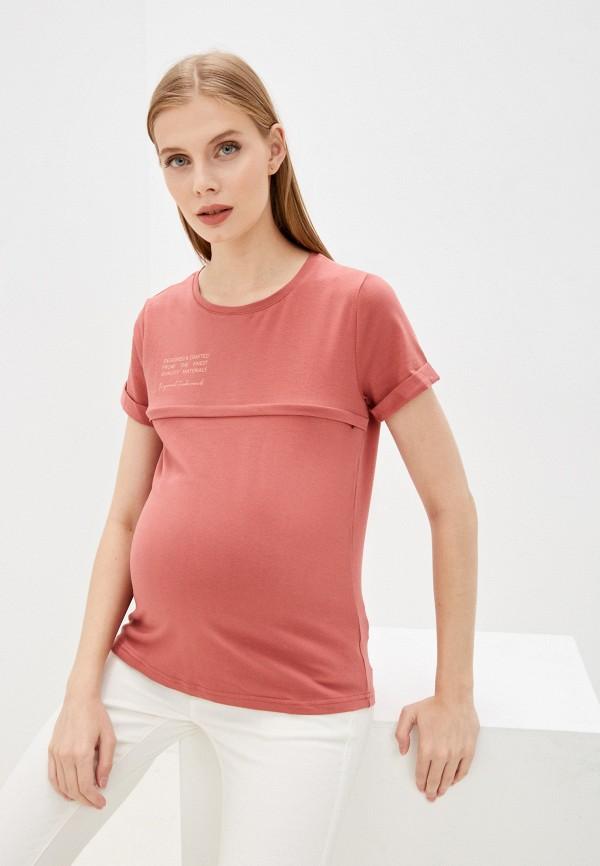 женская футболка mama's fantasy, бордовая