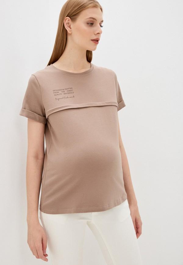 женская футболка mama's fantasy, коричневая