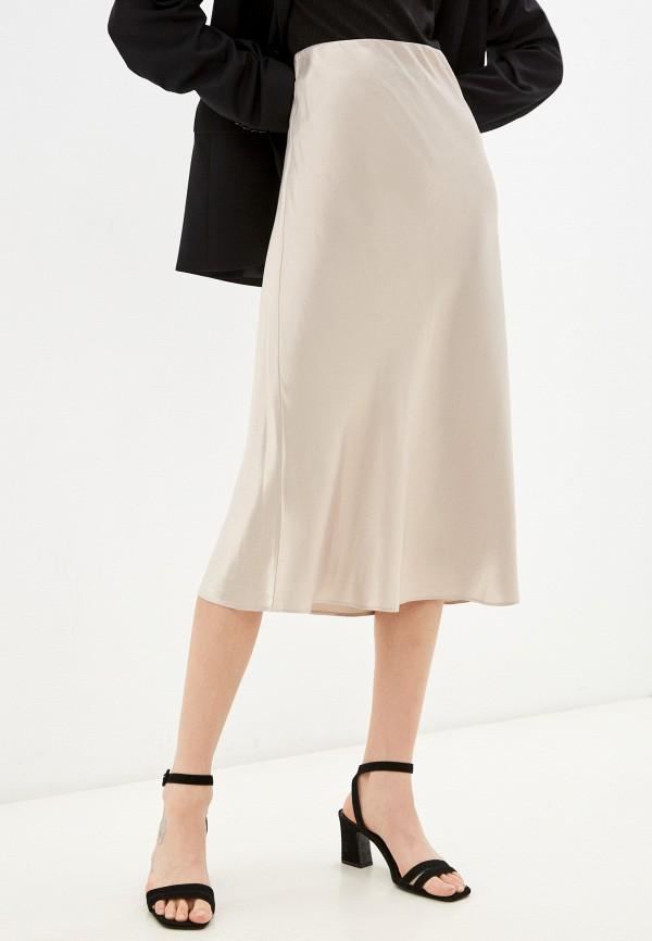 женская юбка-трапеции sample room, серебряная