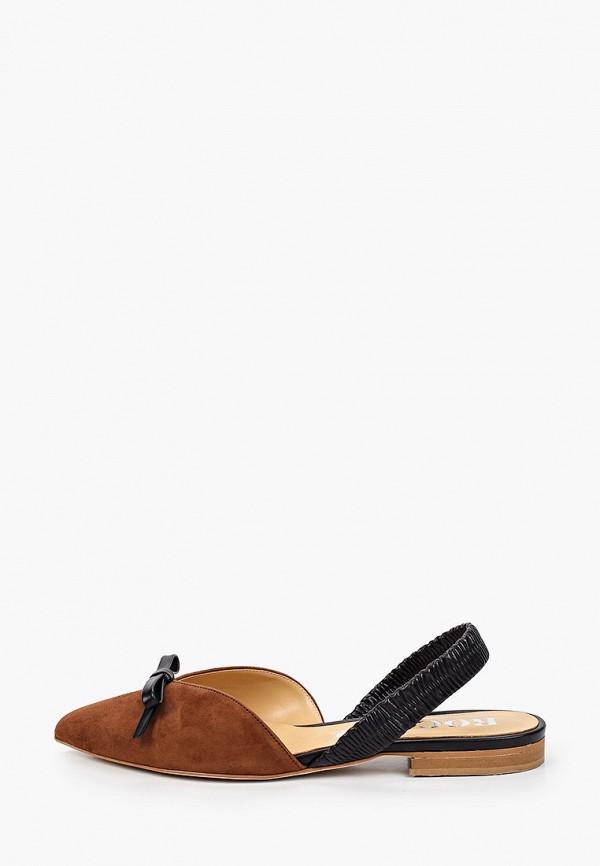 женские туфли rococo', коричневые