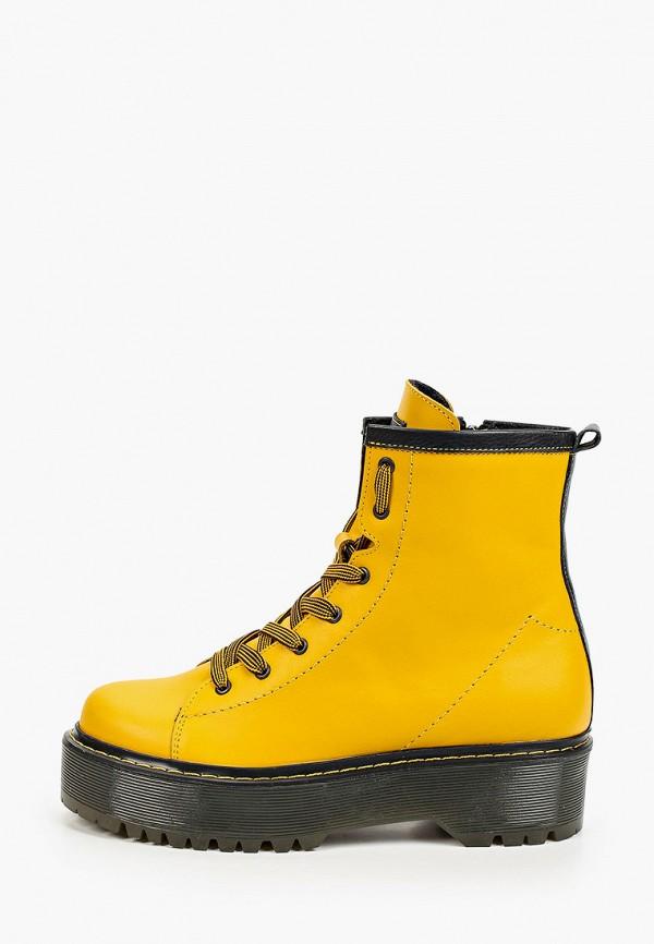 женские высокие ботинки makfly, желтые