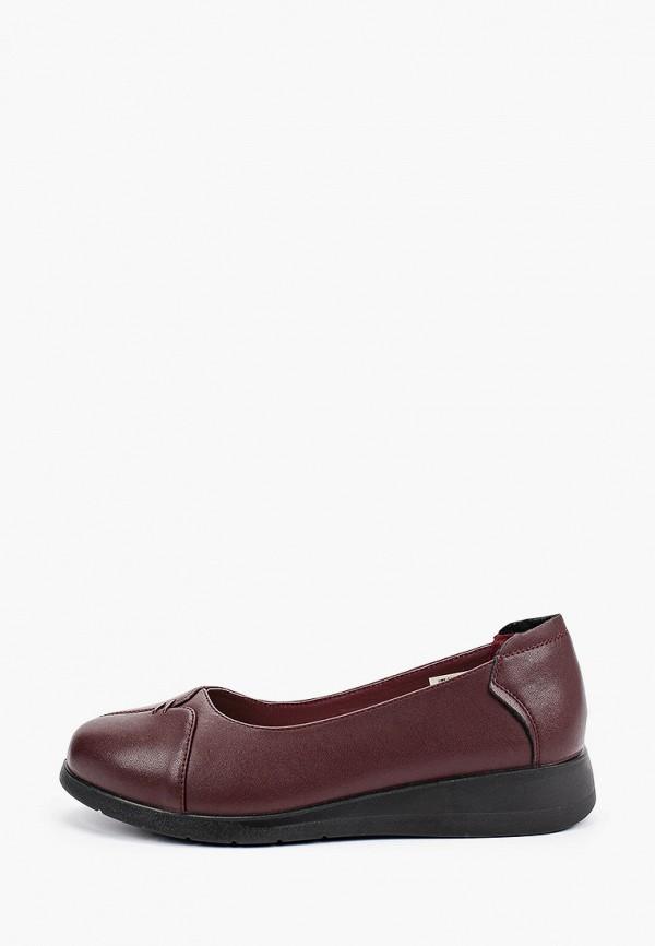 женские туфли с закрытым носом zenden comfort, бордовые