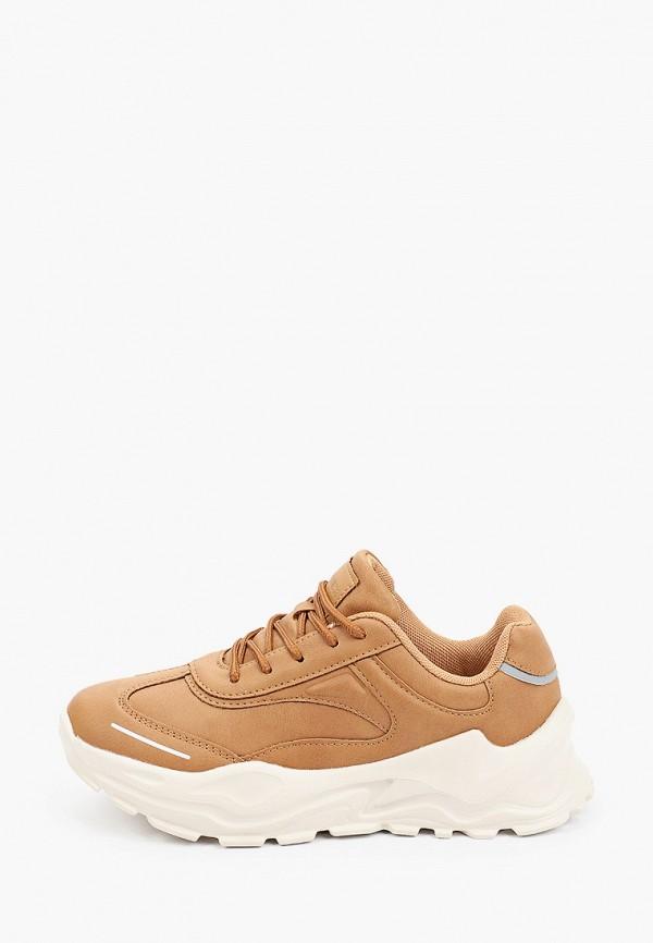 женские низкие кроссовки pulse, коричневые