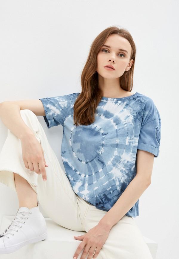 женская футболка mark formelle, голубая