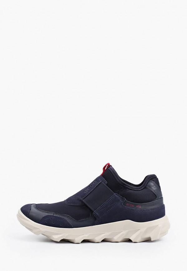 женские низкие кроссовки ecco, синие