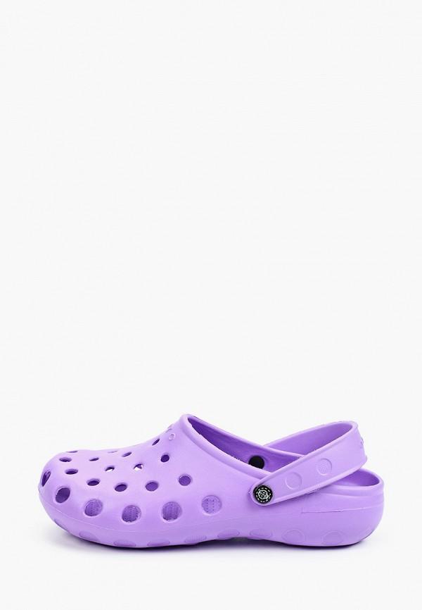 женское сабо ayo, фиолетовое