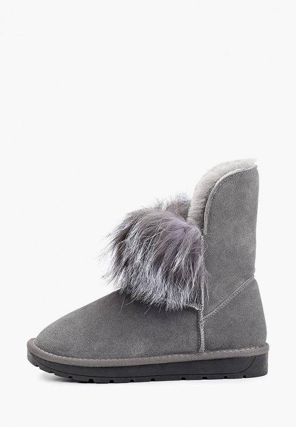 женские высокие ботинки nobbaro, серые