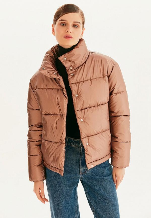 женская утепленные куртка love republic, коричневая