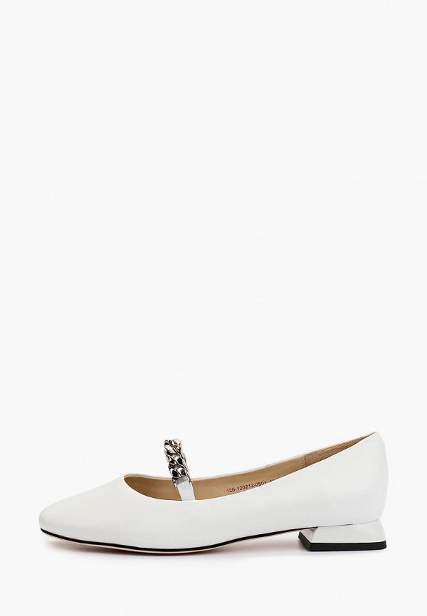 женские туфли с закрытым носом mascotte, белые