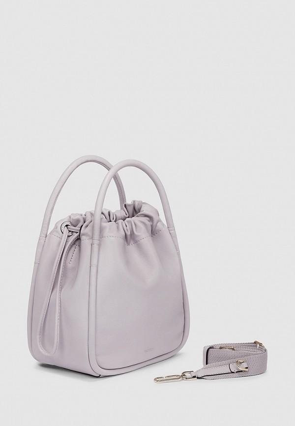женская сумка с ручками ecco, фиолетовая