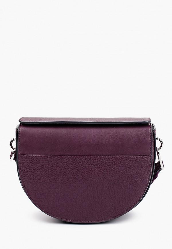 женская сумка через плечо ecco, фиолетовая
