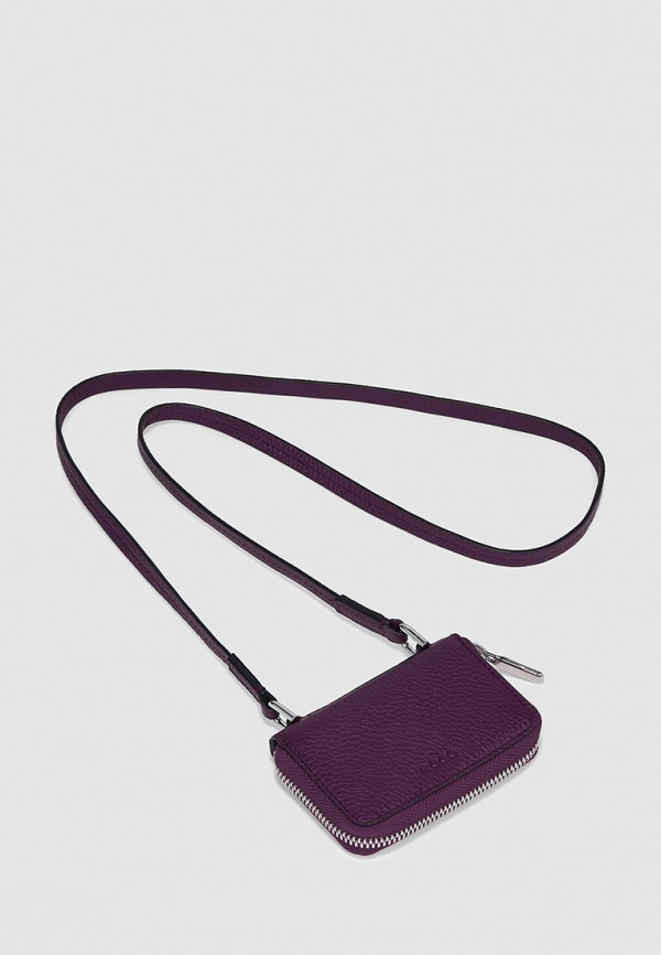 женский кошелёк ecco, фиолетовый