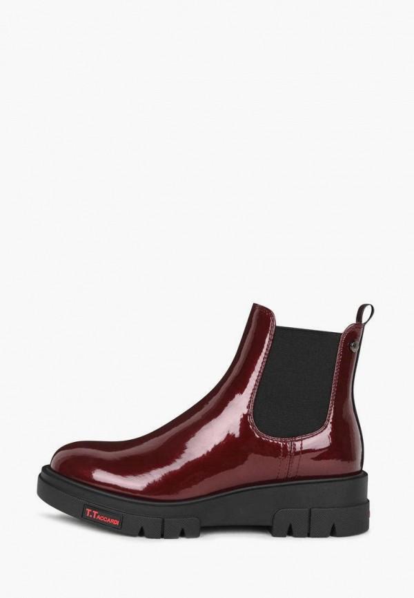 женские ботинки-челси t.taccardi, бордовые